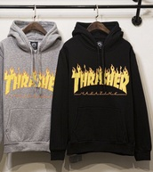 jacket,hoodie,big hoodie,black,black jacket,thrasher,band merch,bands hoodie