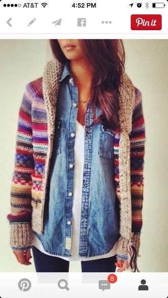 cardigan colorful sweater colorful cardigan fall multi colored multicolored sweater multicolored cardigan comfortable