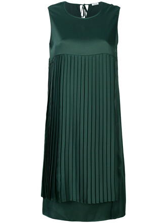 dress shift dress pleated women green
