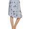Printed pleated silk chiffon skirt