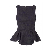 top,dark blue,lace,peplum top,peplum,pretty top,sleeveless,straps top
