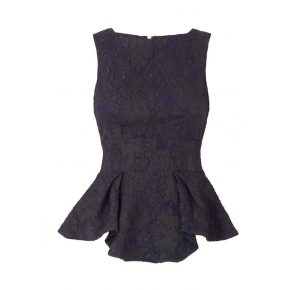 top lace sleeveless dark blue peplum top peplum pretty top straps top