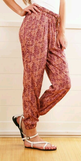pants pattern colorful patterns boho hippy pants