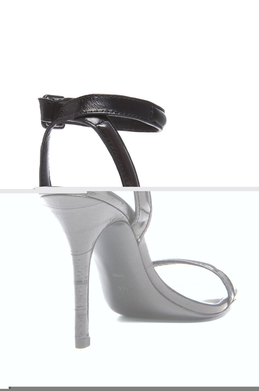 Alexander Wang | Antonia Leather Heels in Black