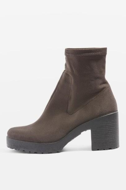 Topshop sock boots grey shoes