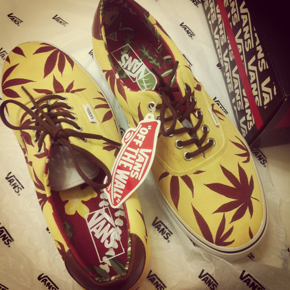 Marijuana weed leaf vansdifferent color styles by creativityism