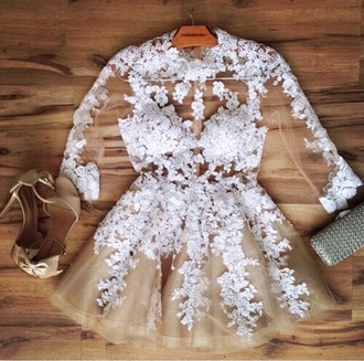 dress white lace short