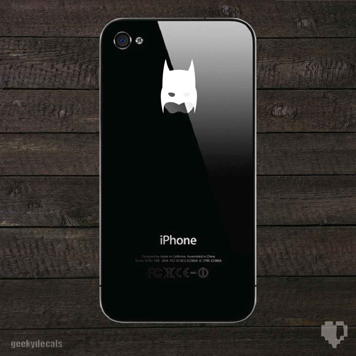 Geeky Decals | Batman inspired mask iPhone Decal | Online Store Powered by Storenvy