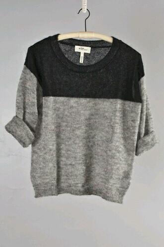 sweater color blocking