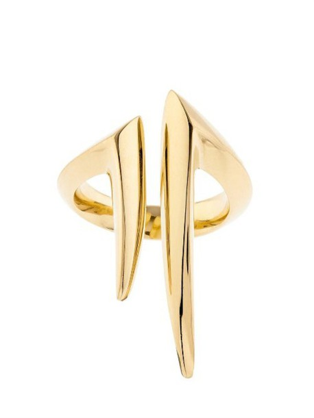 SHAUN LEANE ring gold yellow jewels
