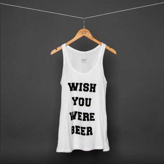 Wish you were beer white tank Women | Women | Shirts | VISUAL STATEMENTS®