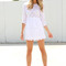 Sabo skirt  embroidered dress - white - $52.00