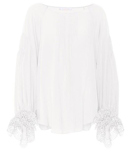 Chloe blouse silk white top