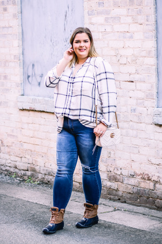 stylishsassy&classy blogger top jeans shoes bag curvy duck boots gucci bag shoulder bag