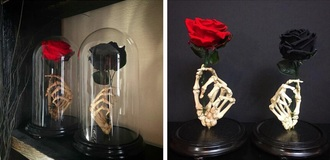 home accessory hand skeleton vase stand flower vase