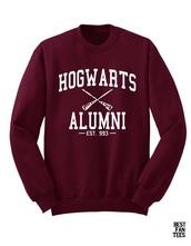 sweater,harry potter,burgundy sweater,hogwarts sweatshirt