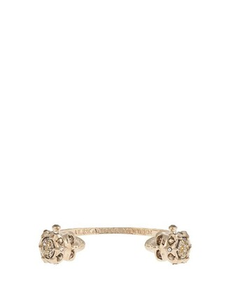 cuff skull embellished gold jewels