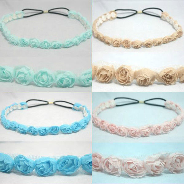 Chiffon Headwrap Elastic Headband Hair Band Accessory Stretch ...