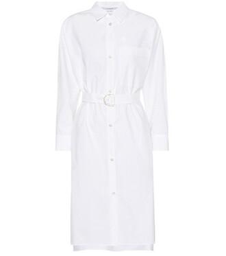dress shirt dress cotton white