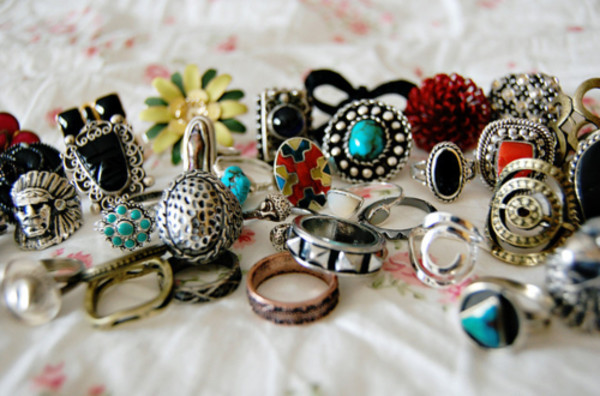 jewels ring turquoise flower ring indian