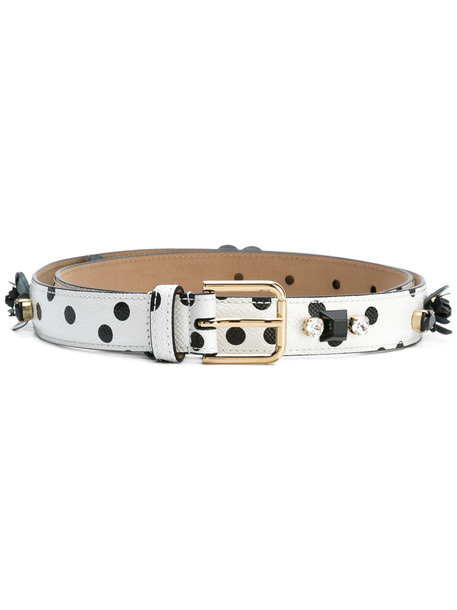 embellished belt white