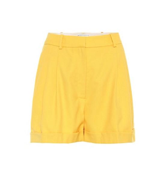 Racil Wool shorts in yellow