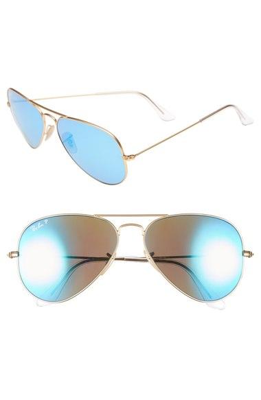 Ray-Ban 58mm Aviator Polarized Sunglasses | Nordstrom