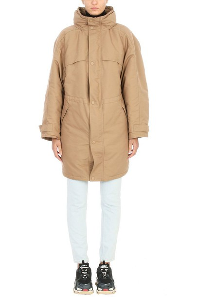 Balenciaga coat parka cotton beige