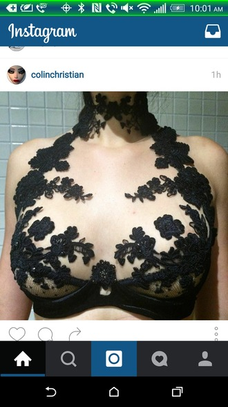 underwear top lace black  lace beautiful floral lace lingerie exposed