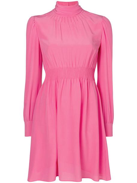 Valentino dress women spandex silk purple pink