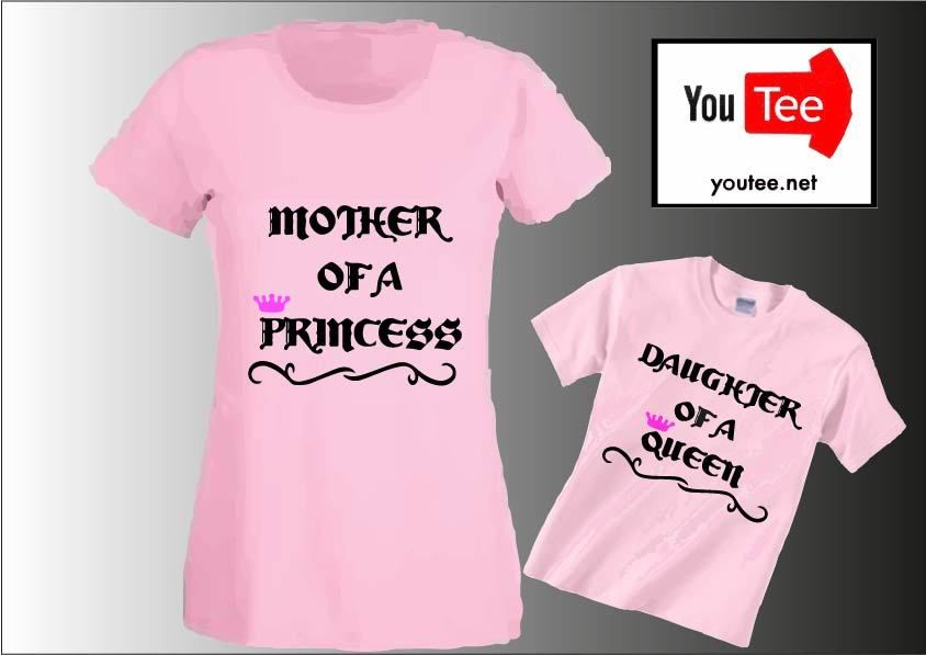 Shirt Of Mummy Queen Mum Tshirt T Princess Daughter Mother A IYmg7yf6vb