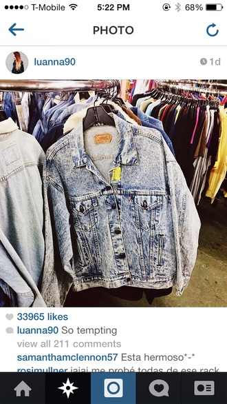jacket vintage acid wash oversized