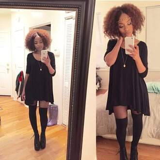 dress black dress shirt dress flare msvaughntv urban outfitters