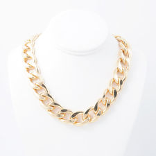 Thick Gold Chain Necklace | eBay