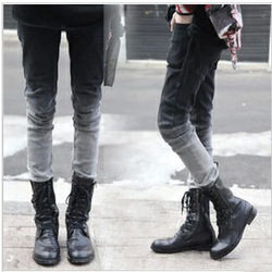 Online shop 2014 autumn and spring new arrival casual skinny men jeans korean style gradient fashion pants for tide boys
