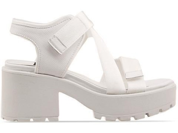 shoes white sandals velcro