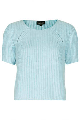 Short Sleeved Ribbed Knit - Topshop