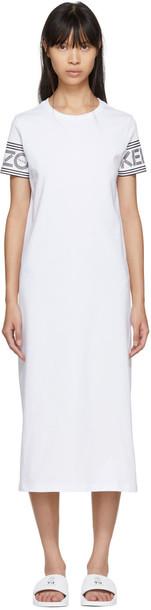 Kenzo dress shirt dress t-shirt dress white
