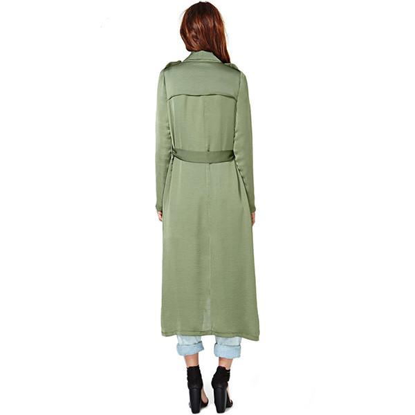 Khaki duster coat