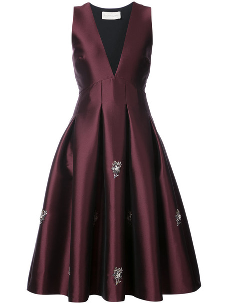 Sachin & Babi dress satin dress women embellished satin red