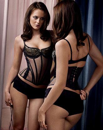 leighton meester black underwear underwear