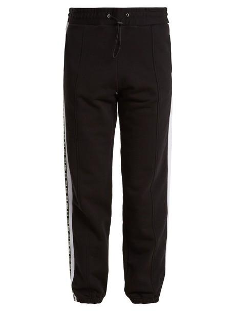 MSGM pants track pants cotton print black