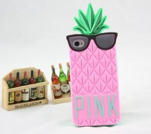 Pink Victoria/'S Pineapple 3D Silicone Case Secret For Iphone Pink Silicon Cover Case For Iphone 5 5G: Amazon.co.uk: Electronics