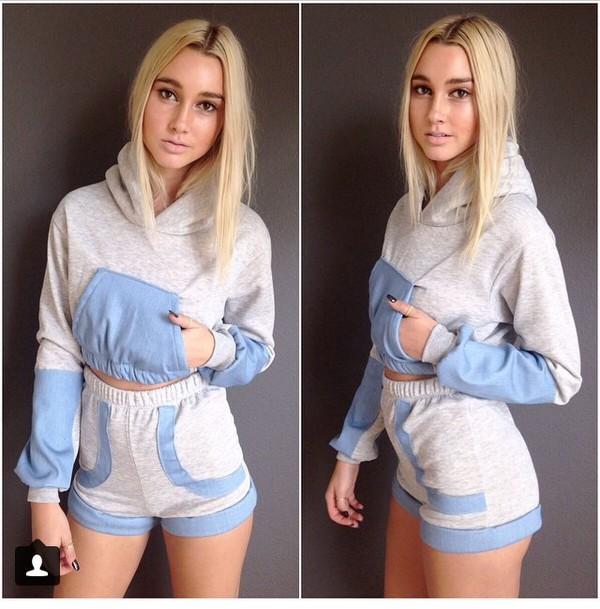 hoodie shorts