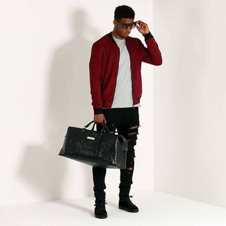 bag maniere de voir hold all weekend suitcase traval travel snake python black essentials mens holdall