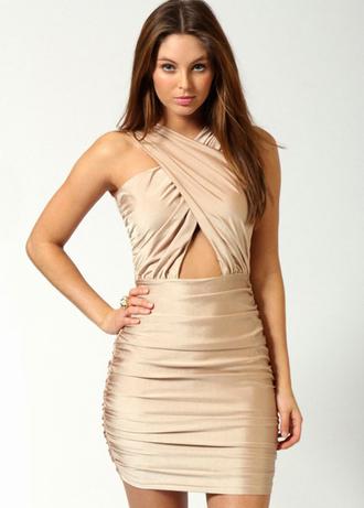 skirt fashion dress clothes sexy silk nude bandage dress