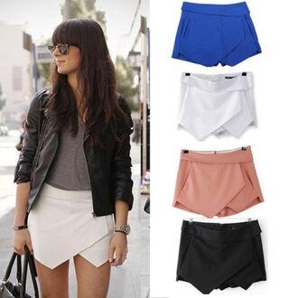culotte shorts shorts summer outfits skirt skort blue black orange white