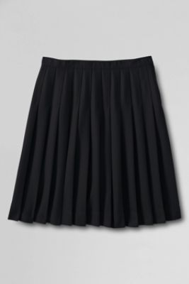 Girls' Solid Pleated Skirt (Below The Knee) from Lands' End