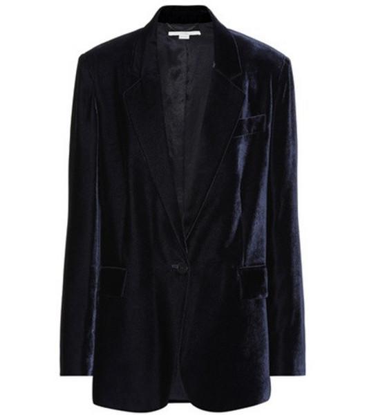 Stella McCartney Nicole velvet blazer in blue