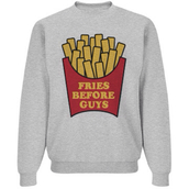 sweater,fries before guys,shirt,top,fries,guys,food,socks,galentines day